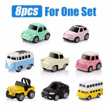 Alloy Car Toy 8pcs/set Pull Back  Diecasts Toy Vehicles Small Model Mini Cars Toys for Kids Brinquedos Christmas Birthday Gift