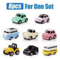 8pcs Set Diecast Alloy Model Pull Back Small Car Toys For Kids Mini Metal Toy Car