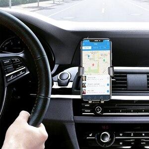 Image 2 - Support universel de voiture pour téléphone portable dans le support de montage dévent de voiture support pour téléphone Mobile pour iPhone 11 6 6s Plus support de cellule de Smartphone de gravité