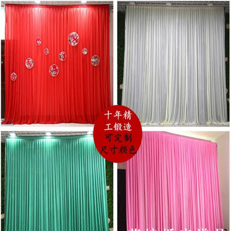 Simple Ice Silk Wedding Backdrop Event Party Drape Curtain for Wedding Party Home Decoration 10ft*10ft CR68Simple Ice Silk Wedding Backdrop Event Party Drape Curtain for Wedding Party Home Decoration 10ft*10ft CR68