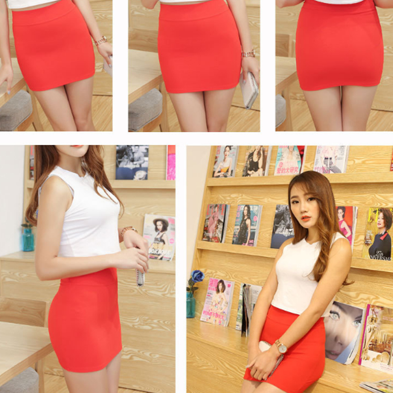 New Micro Mini Skirts 2017 Summer Sexy Girls Skirts Casual Package Hip Short Skirts Women Tight Office Party Female Red Black 50 #6