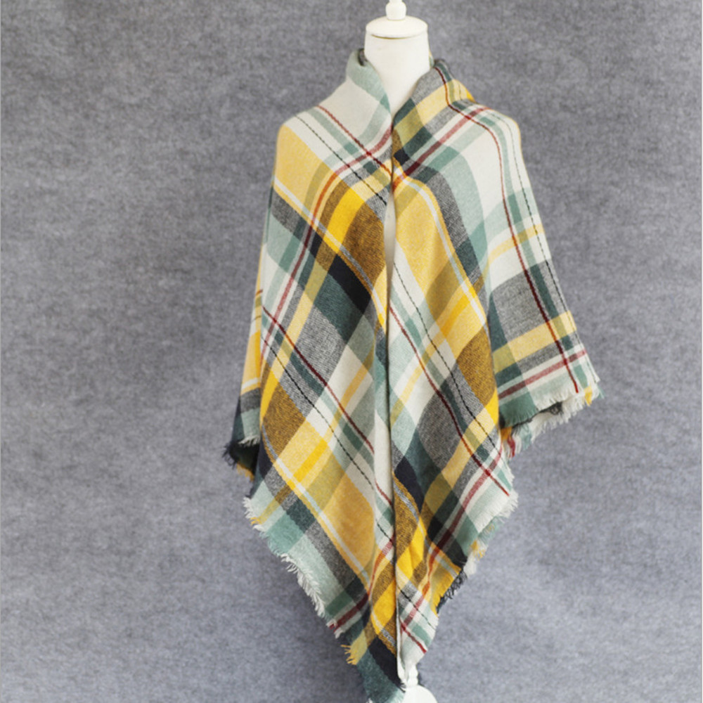 140 140cm New arrival l brand Plaid Scarf Women soft Cashmere Winter Warm Scarf Female font