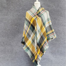 140*140cm New arrival l brand Plaid Scarf Women soft Cashmere Winter Warm Scarf Female Tartan Foulard Shawl square Scarves