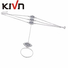 KIVN Fashion Jewelry Pave CZ Cubic Zirconia Turkish Blue eye Women Girls Bridal Wedding Wrist Bracelets Birthday Gifts