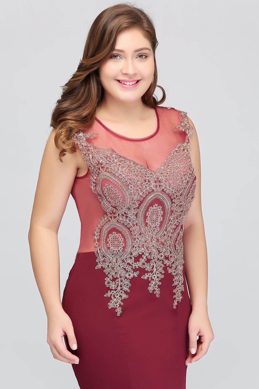 HTB1S2_geH_I8KJjy1Xaq6zsxpXa5Plus size Evening Dress Burgundy Formal Gown