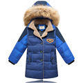 Winter Boy Down Coat 2015 New Fashion Children Outerwear For Boys Parkas Thick Winter Down Jacket With Fur Collar Casual Coats