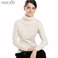 Goat Cashmere Sweater New Autumn Winter Women Fluffy Hollow Out Shell Shape Knitted Turtleneck Sweaters Pulls Jersey