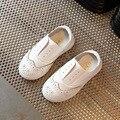 Дети мокасины shoes 2017 Весной 100% натуральная кожа мужчины и женщины диких белых детей leather shoes leather shoes kids