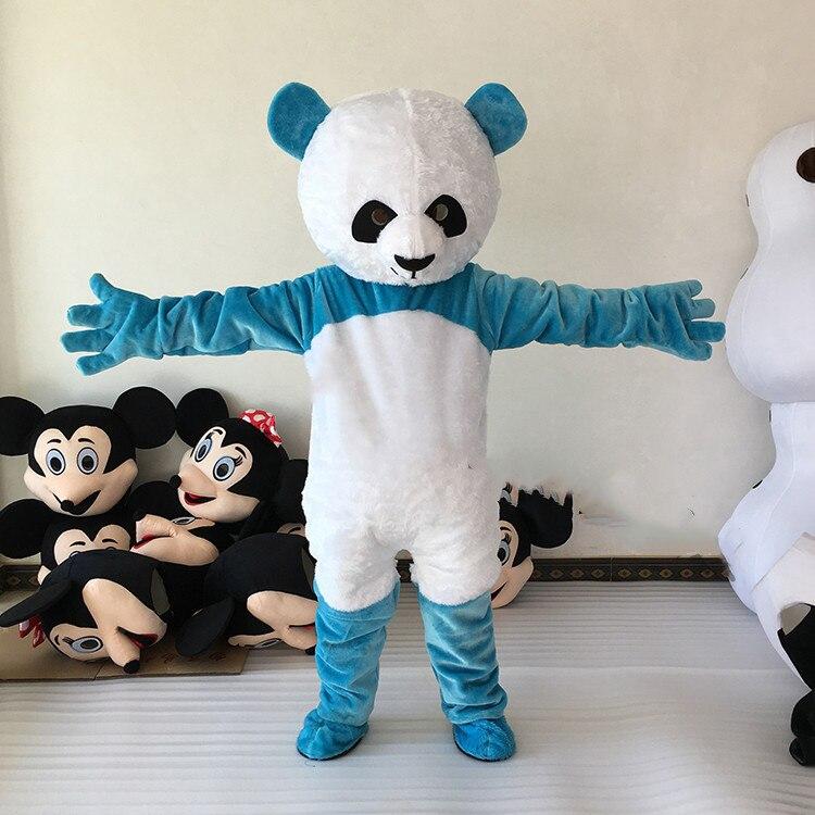 Gros nouvelle Version chinois géant Panda mascotte Costume de noël Cosplay dessin animé mascotte Costume fantaisie robe taille adulte