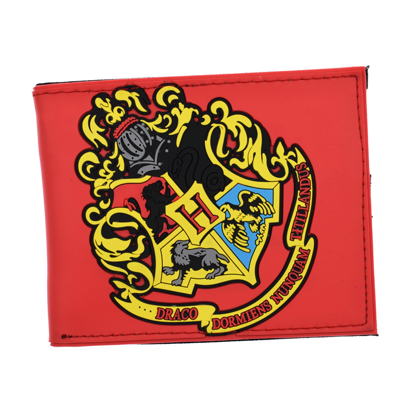 FVIP High Quality PVC Harry Potter Wallet Hogwarts Colleges HUFFLEPUFF /RAVENCLAW Purse With Card Holder