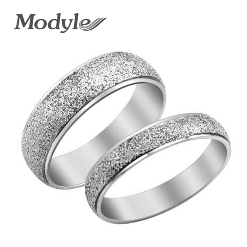 modyle fashion jewelry 316l stainless steel silver simple circle real love couple ring wedding rings engagement rings - Simple Wedding Ring