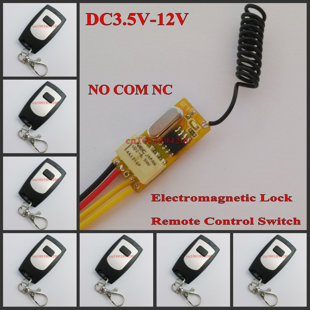 Système de contrôle d'accès 3.7 V 4.5 V 5 V 6 V 7.4 V 9 V 12 V interrupteur de commande à distance sans fil porte ouverte fermer NO COM NC