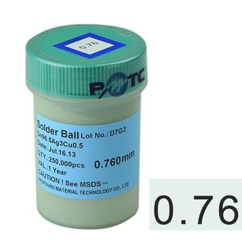 for BGA reworking 0.76mm 250k big capacity lead-free BGA reballing soldering balls pmtc 250k 0 76mm lead free leaed free solder balls for bga chip reballing