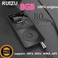 100% Original RUIZU X02 MP3 Player Com Tela de 1.8 Polegada Pode Jogar 100 horas, 8 gb Com FM, E-Book, Relógio, Dados