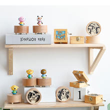 Random Music Hand-operated Box Castle In The Sky Hand Cranked Wood Christmas Birthday Boxes Gift