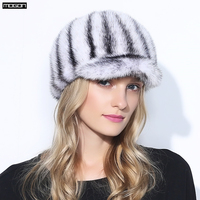 Women Direct Selling Rushed Adult Solid New Knight Hat Fur Hats For Winter Genuine Mink Cap Luxury Natural Water With 2018 Sale