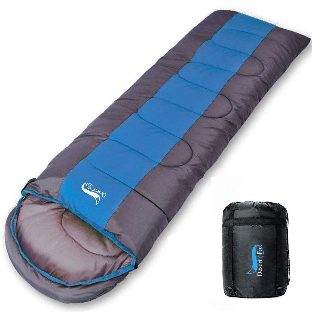 Saco de dormir para Camping desierto y zorro, saco de dormir ligero de 4 estaciones cálido y frío para hacer senderismo al aire libre