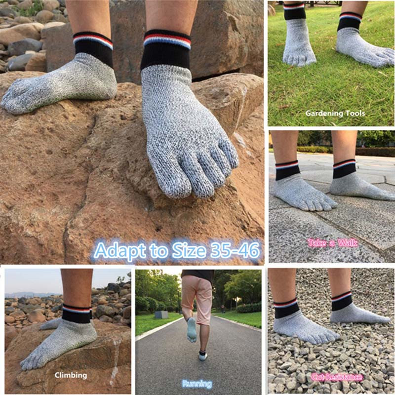 1 Pair New High Quality Comfortable 5 Toe Cut Resistant Socks Non Slip Yoga Stockings Hiking Running Climbing Arefoot Socks