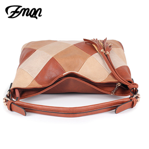 Image 4 - ZMQN Hand Bags For Women 2020 Patchwork Luxury Handbags Women Bags Designer PU Leather Hobos Shoulder Messenger Bag Female A861