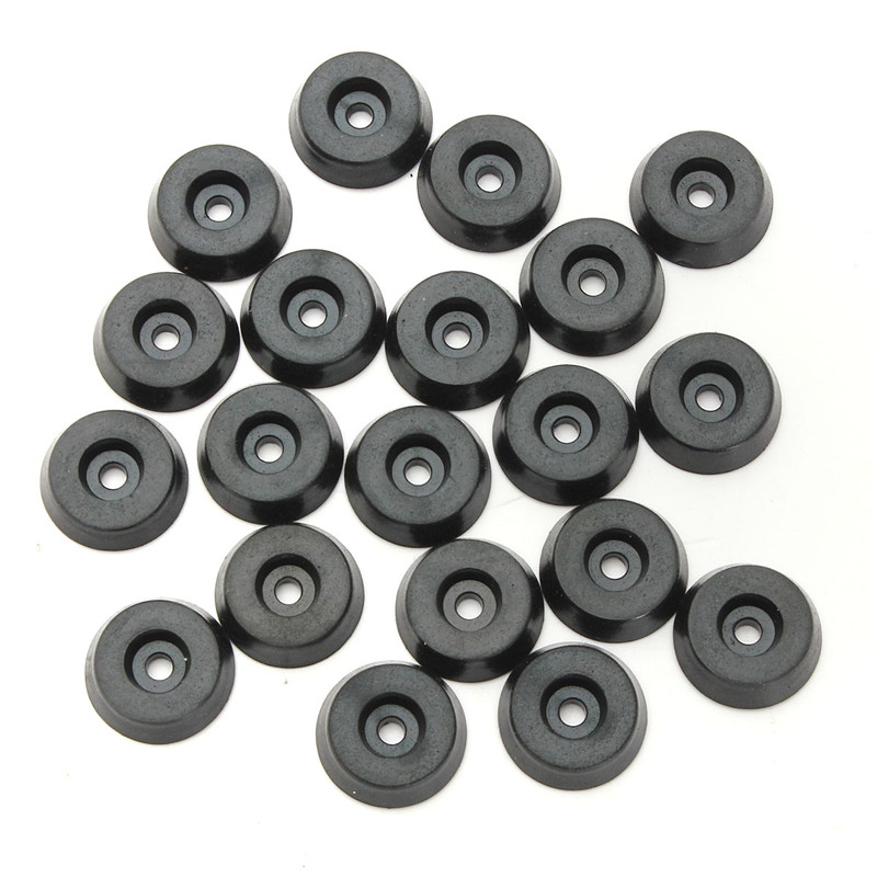 20 X Black Rubber Table Chair Feet Pads