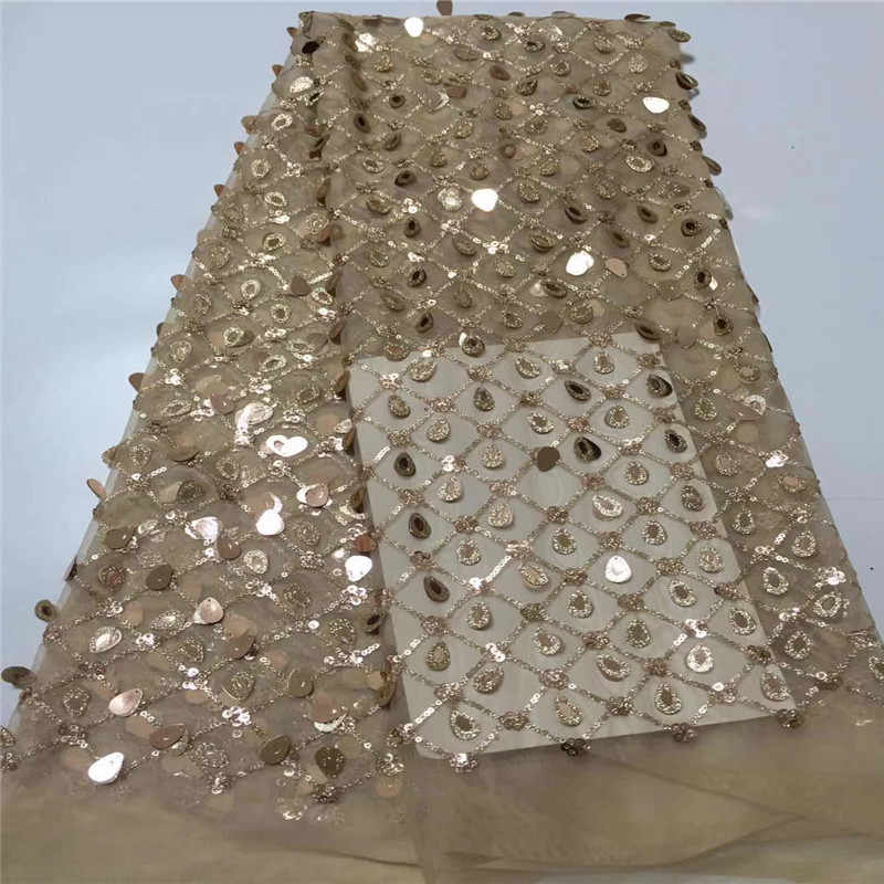 Cassiel Wine African Lace Fabric 2019 High Quality Lace Sequence Lace Fabric Embroidery Tulle Lace Fabric For African Wedding