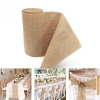 30 Cmx10m Vintage Craft Natural Jute Hessian Burlap Ribbon Roll Tape Rustic Wedding Strap Floristry Decoration DIY Accessories