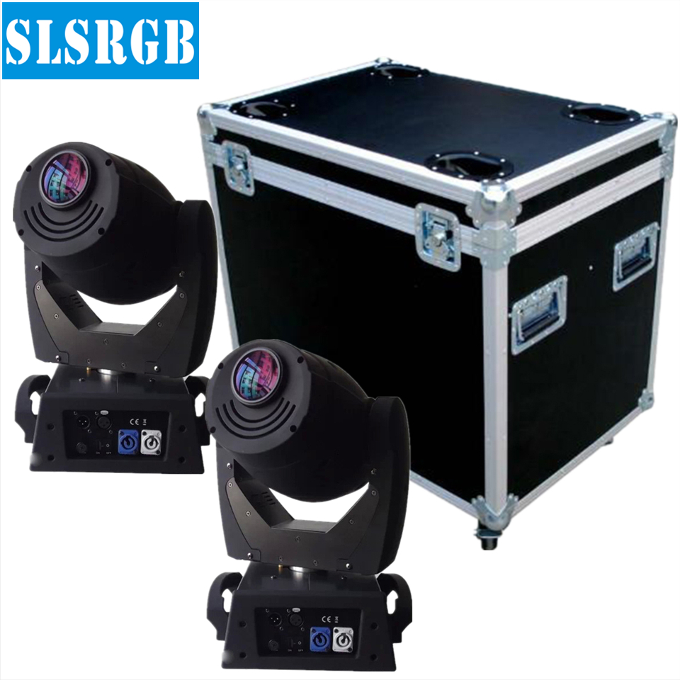 2pcs/lot with flight case High end nice gobos 90w moving head led spot, led moving head 90w manufacturer dmx spot 90w led beam