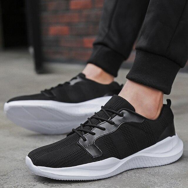 Sapatas dos homens Homens Beathable Air Mesh Calçados Casuais Slip On Meia Verão Homens Sapatos Sapatilhas Tenis Masculino Adulto Plus Size 35-46