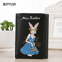 BOTUSI Miss Rabbit Women Wallet PU Leather Card Holder Short Wallet Card Case Casual Standard Wallets Money Bag for Dollar Price 2015 comics teenage mutant ninja turtles wallet dollar price purse pu tide men women boys girls wallets for young students w020