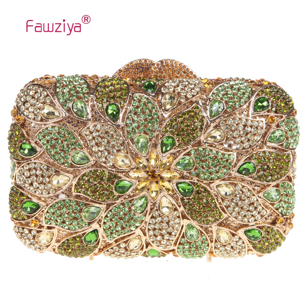 Fawziya Famous Luxury Women Fashion Brand Bag Peacock Feather Floral Clutch Bags For Womens Purses And Handbags fawziya bag rhinestone 15cm luxury natural stone purses and handbags for womens bags