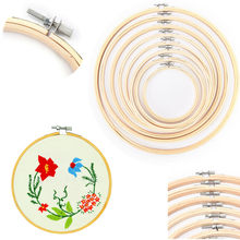 11Sizes Bamboo Frame Embroidery Hoop Ring 10-40CM DIY Needlecraft Cross Stitch Machine Round Loop Hand Household Sewing Tools(China)