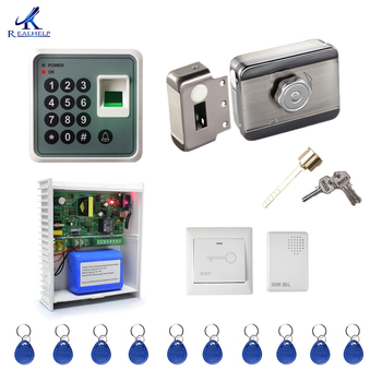 Back up Battery Access Control System Kit Home Office Door Lock Electronic Door Release Keypad Biometric Entry Door Access