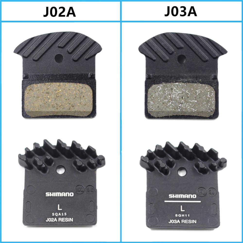 SHIMANO J02A/J03A Pads DEORE XT SLX DEORE J02a Cooling Fin Ice Tech Brake  Pad Mountain Bike M7000 M8000 M9000 M9020 M6000