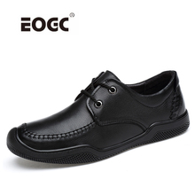 Купить с кэшбэком Full Grain Leather Casual Shoes Men Fashion Handmade Men Shoes Breathable Lace-up Outdoor Loafers Moccasins Sneakers