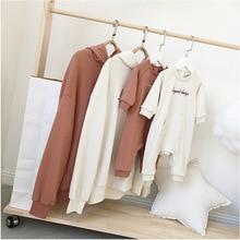 Одинаковые комплекты для семьи; модный свитер для папы, мамы, сына и дочки; семейный образ; футболка; свитер с капюшоном; пуловер; Топ; Bebe; комбинезон; одежда