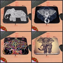New PC Laptop Elephant Vintage Pattern Style Anti-slip Mousepad Computer Gaming Mouse Pad Mat for Optal Me Trackball Mouse