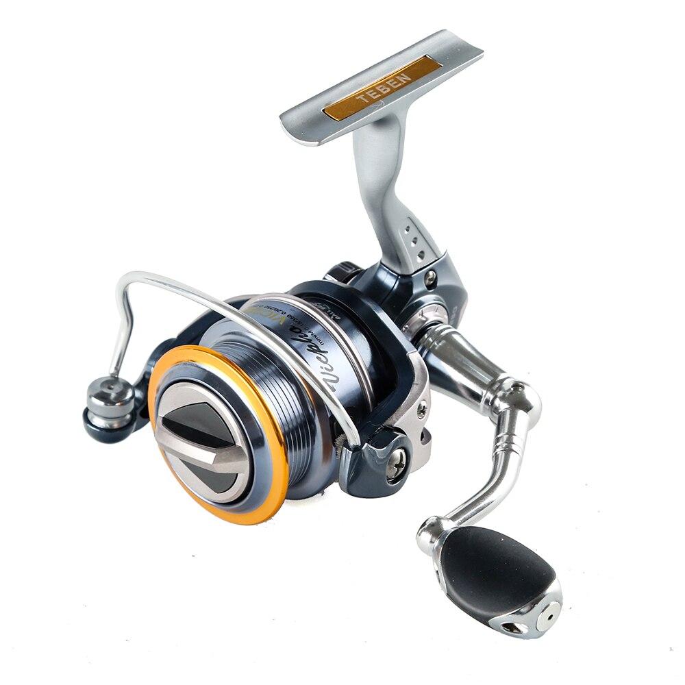 Spinning Fishing Reel 8+1BB Gear Ratio 5.1:1 Aluminium Handle Carp Feeder Steering Wheel Fishing Tackle Spinning Reel
