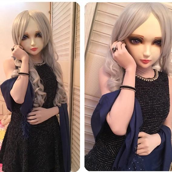 Gurglelove Female Sweet Girl Resin Half Head Kigurumi Bjd Mask Cosplay Japanese Anime Role Lolita Mask Crossdress Doll zi-05 Brilliant