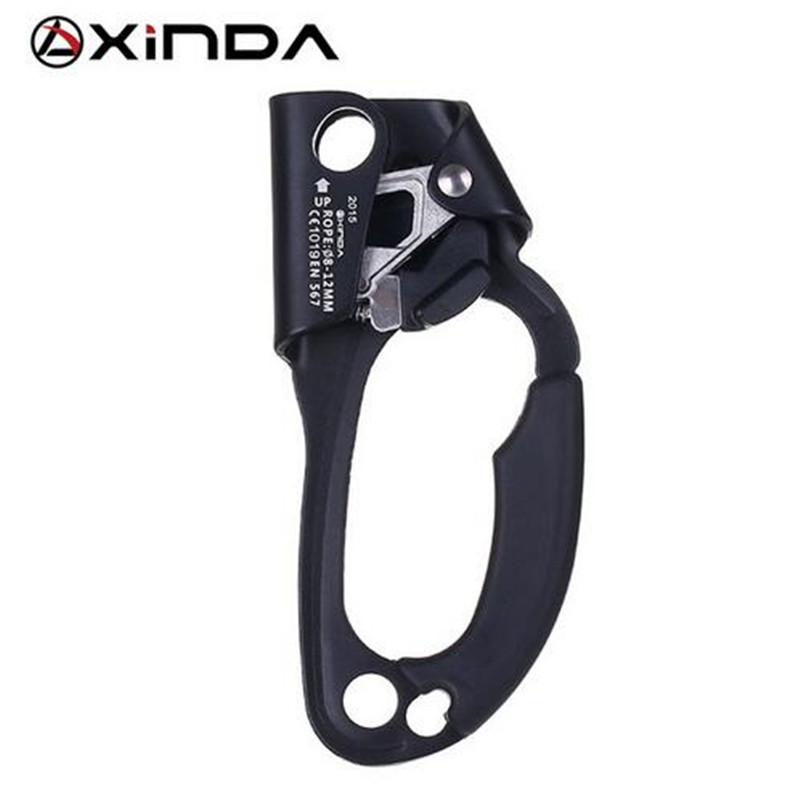 XINDA Professional Outdoor Sports Rock Climbing Right Hand Ascending Device Mountaineer Handle Ascender Climb Rope Tool e0037 right hand ascender professional aerospace aluminum ascenders for outdoor mountaineering rock climbing