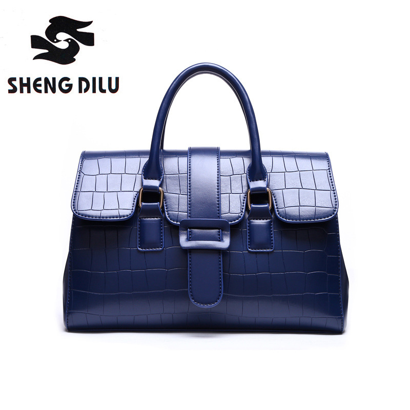 New Fashion Brands High Quality Genuine Leather Women Handbag 2017 Ladies Tote Handbags Shoulder Bag Female Women Messenger Bags 100% genuine leather women bags luxury serpentine real leather women handbag new fashion messenger shoulder bag female totes 3