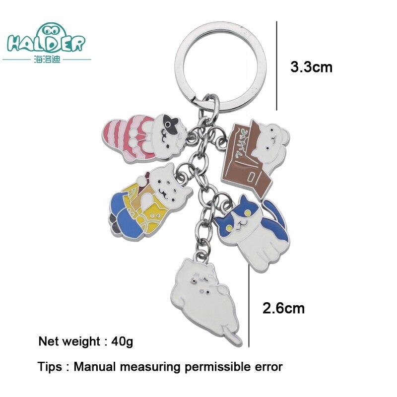 Halder Fashion New Game Neko Atsume Metal Pendant Keychain Charm Cute Cat Keychain Car K ...