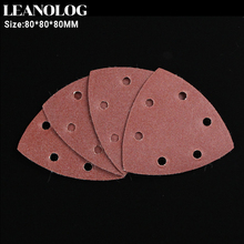 25pcs 80mm Delta Sander Sandpaper Hook & Loop Sanding Paper Abrasive Woodworking Tools with Grit 40 60 80 100 120 180 240