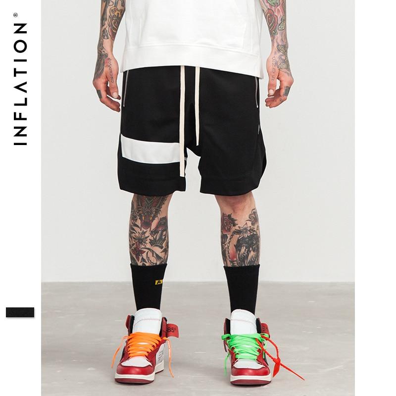 INFLATION Mens   Shorts   Hip Hop Brand Clothes Streetwear Draw Rope Zipper Jogger   Shorts   Mesh Loose Hip-Hop   Shorts   For Men 8422S