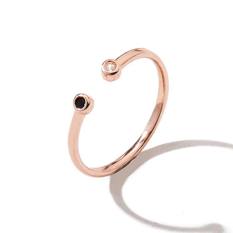 Anéis da lua midi crescente lua anéis abertos para mulheres menina junta anel jóias bijoux presentes de aniversário transporte da gota