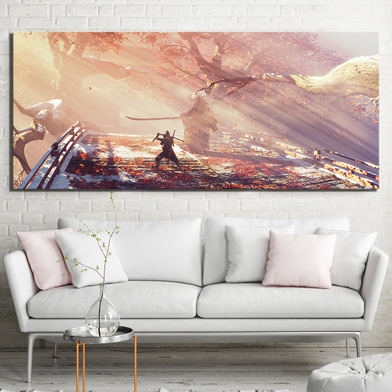 1 Piece HD Picture Print Sekiro Shadows Die Twice Video Game Scene Poster Landscape Wall Art Canvas Paintings for Home Decor 3