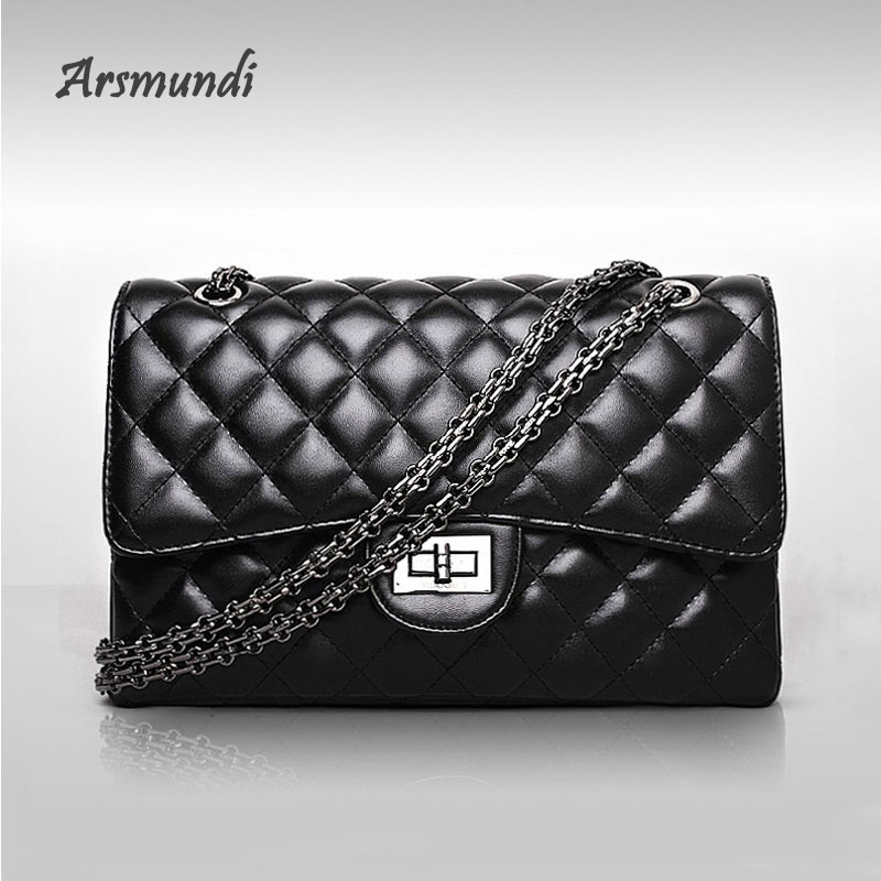Arsmundi Messenger Bags Women Fashion Vintage Messenger Bag Single Shoulder Package Diamond Lattice Women's Purses and Handbags