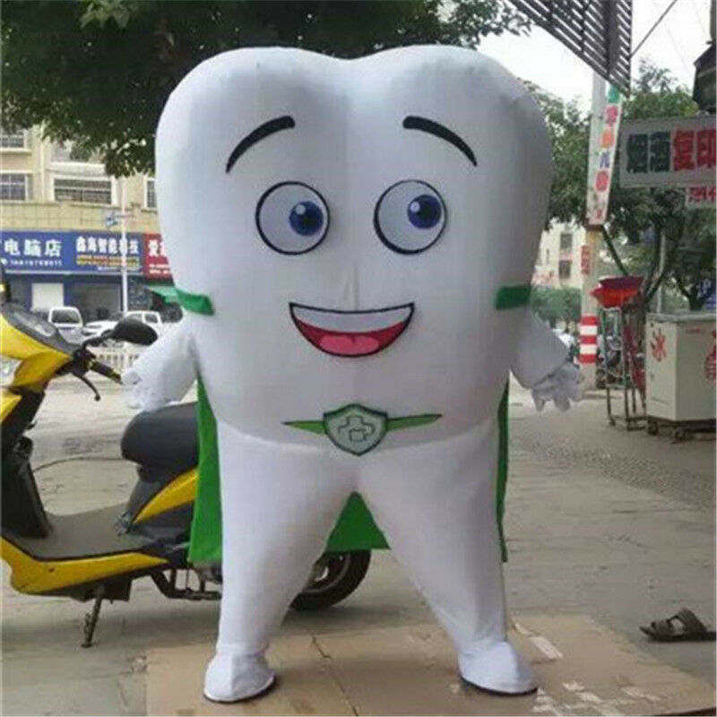 Tooth Mascot Costume Adults Size Dental Care Costume Fancy Dress For Advertising
