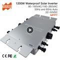 Impermeabile Ip65 1200 W Micro Legame di Griglia Solare Inverter DC 22-50 V a 80-160VAC o 180-260VAC, 50 hz/60 hz, max per 1400 W pannelli