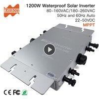 Promo Impermeable IP65 MPPT 1200W Smart Grid inversor Solar DC 22 50V a 80 160VAC o 180