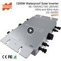 Waterdichte Ip65 1200 W Micro Solar Grid Tie Inverter DC 22-50 V naar 80-160VAC of 180-260VAC, 50 hz/60 hz Auto, max voor 1400 W panelen